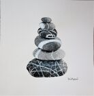 WD232 Pebble Pile (2) in black & white