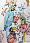 'Flowers & Parrots' by Dave Cox