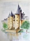 'Chateau at Josselin' by Don Kent