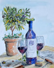 Wine & Olives by Marcus Matthews