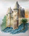 'Chateau at Josselin' by Terry Curran